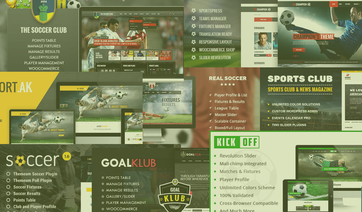 wordpress football themes