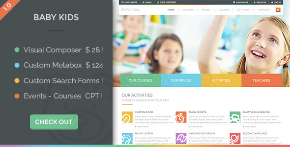 Baby Kids Wordpress Theme