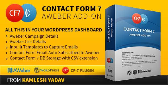Contact form 7 Aweber Add-on