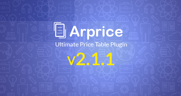 pricing table addon vc