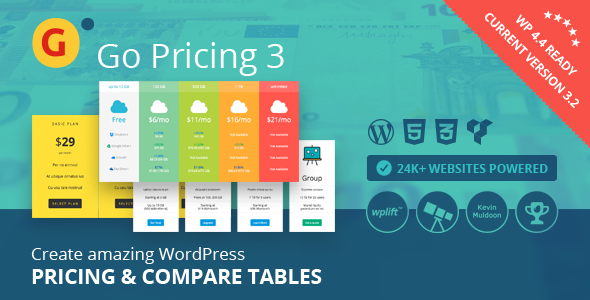 Go Pricing Table Addon
