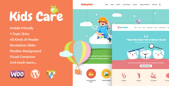 kids care wordpress theme