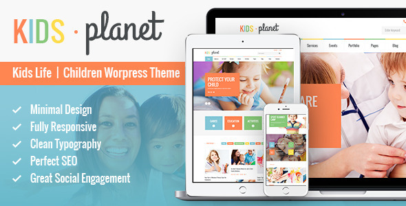 kids planet wordpress theme