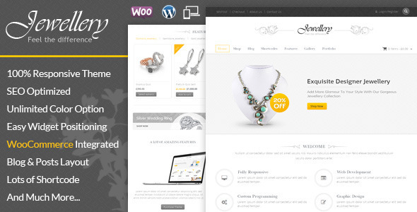 Jewellery wordpress themes