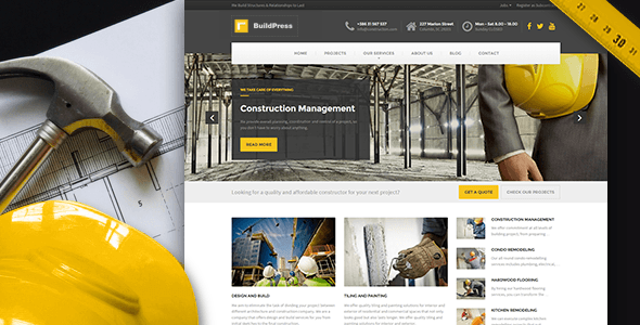 Builder Wordpress Theme