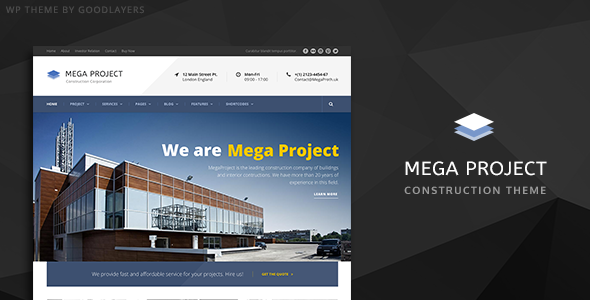 Mega Construction Wordpress Theme