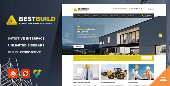 Builder Company Wordpress Theme