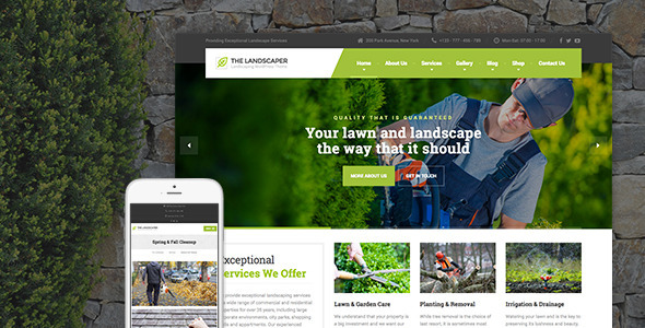 Lawn and Farm Wordpress Theme