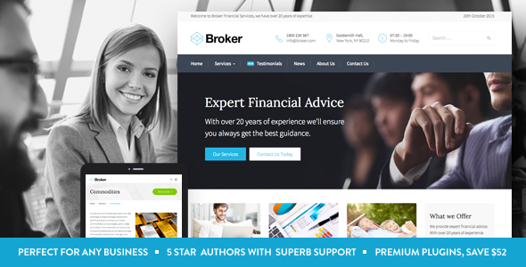 Best finance business wordpress themes premium wow best finance business wordpress themes friedricerecipe Image collections