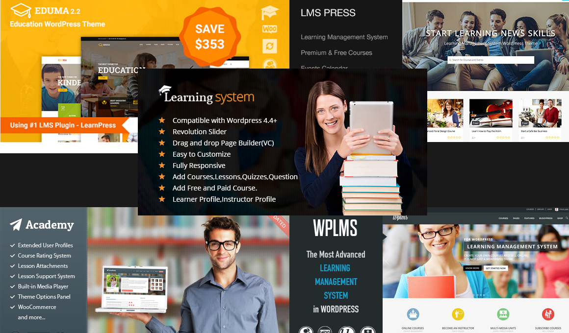 Best LMS Education WordPress Themes