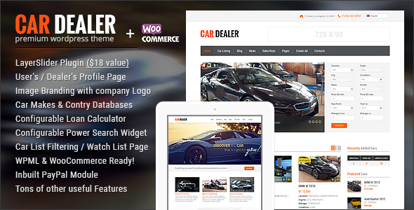10 Best Car Dealer WordPress Themes