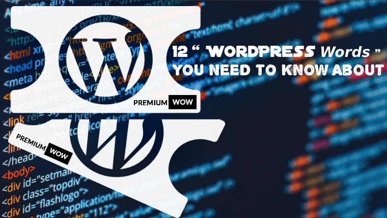 12 WordPress Words You Need to Know About