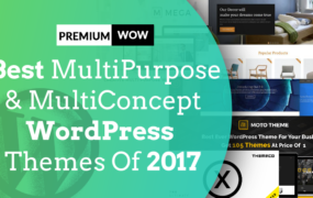 Best MultiPurpose, MultiConcept WordPress Themes Of 2017