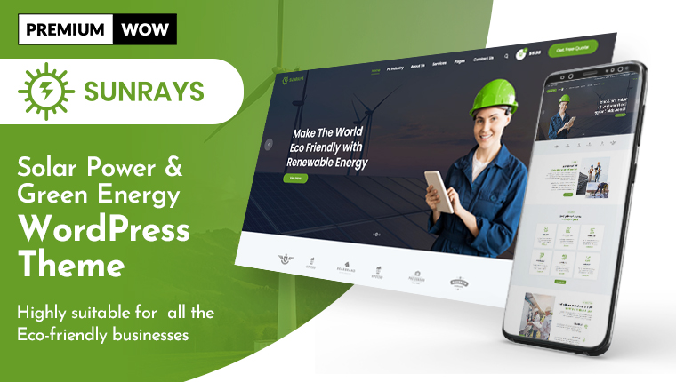 Sunrays – Solar Power & Green Energy WordPress Theme